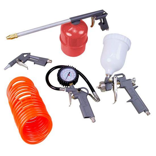 Jogo de Acessórios Pneumáticos P/Compressor Tanque Alto 5730455 - Stels 5 Peças
