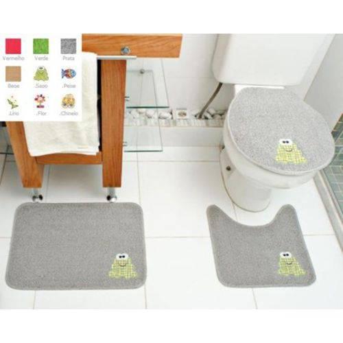 Jogo de Banheiro Tapete 3 Peças