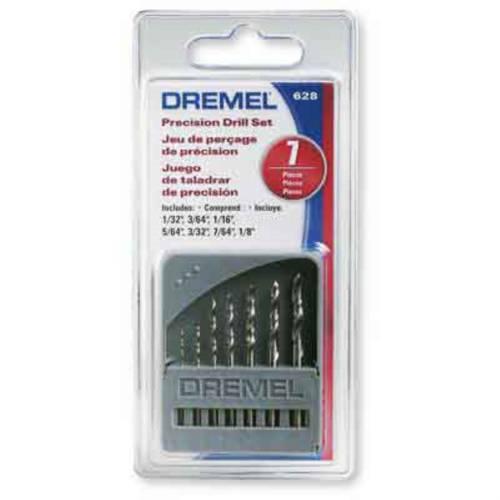 Jogo de Brocas 0,8 a 3,2mm DREMEL 628 P/ Retifica C/ 7 Peças