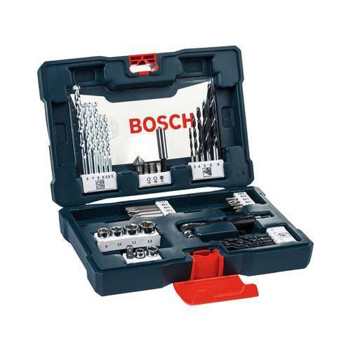Jogo de Brocas Soquetes e Bits Bosch Kit VLine 41 Peças