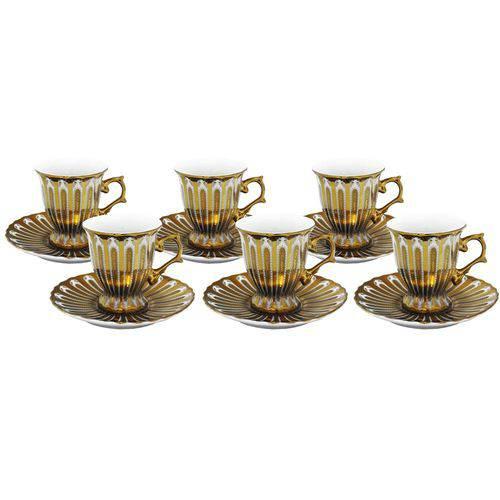 Jogo de Café 12 Pçs Dourado