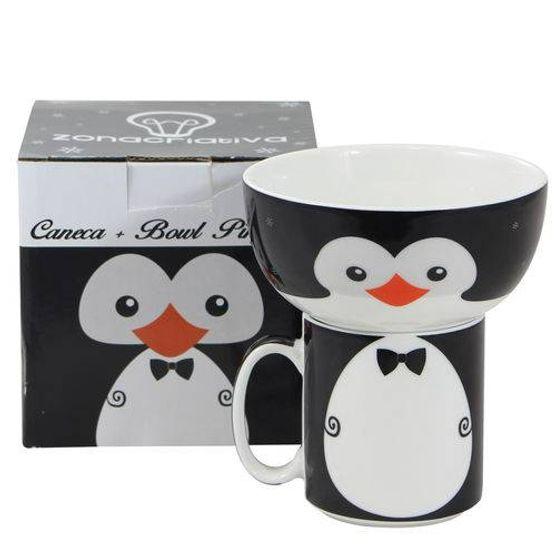 Jogo de Caneca e Bowl Pinguim Jogo de Caneca e Bowl Pinguim