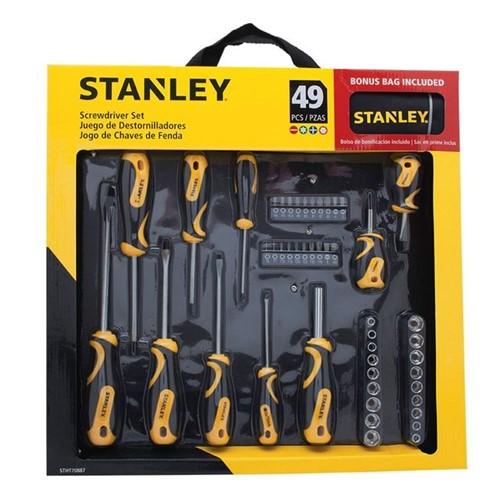 Jogo de Chaves Stanley 49 Peças com Bolsa Amarelo