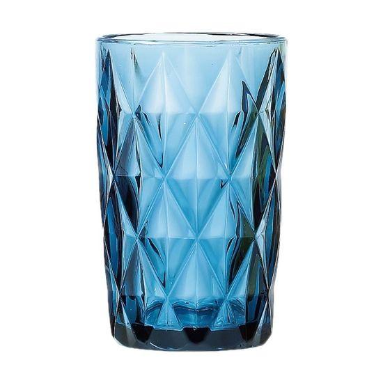 Jogo de Copos Altos Diamond 6 Pecas Azul