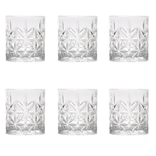Jogo de Copos de Vidro para Whisky Bon Gourmet Stella 300ml