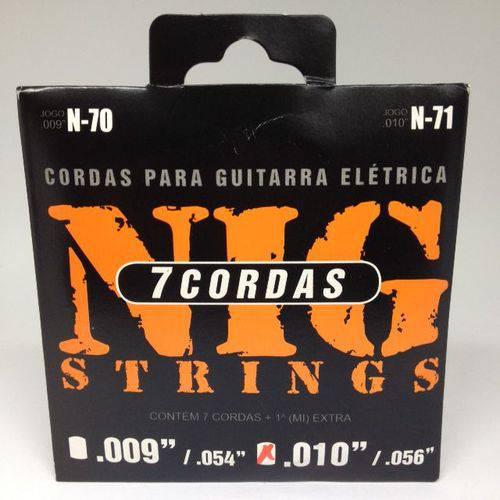 Jogo de Cordas Nig Guitarra 7 Cordas .010 .056 N71