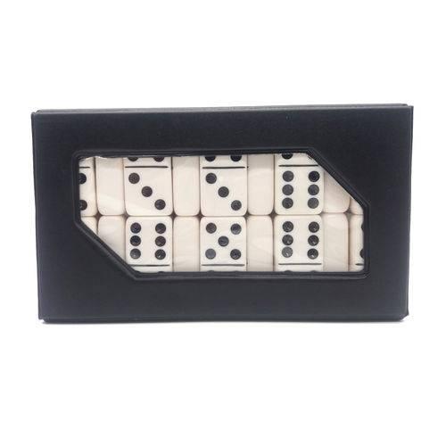 Jogo de Domino Profissional Branco Grosso Super Resistente