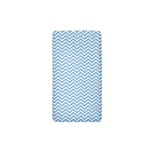 Jogo de Lençol Berço Chevron Azul 2 Peças