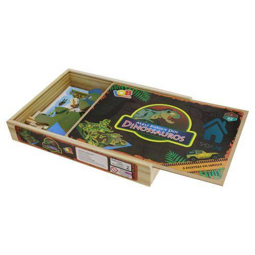 Jogo de Montar Parque dos Dinossauros Iob Brinquedos de Madeira