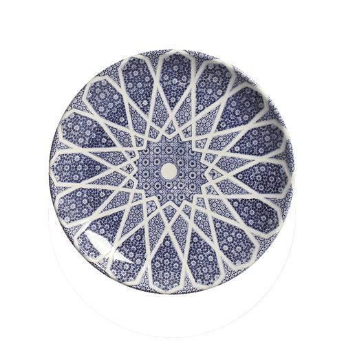 Jogo de Pratos de Sobremesa Coup Mosquée Blue Porto Brasil Cerâmica 6 Peças