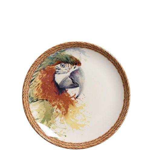 Jogo de Pratos de Sobremesa Coup Parrot Porto Brasil Cerâmica 6 Peças