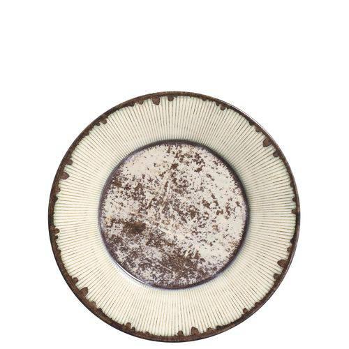 Jogo de Pratos de Sobremesa Mônaco Rustic Porto Brasil Cerâmica 6 Peças