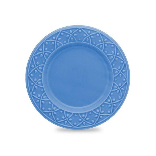 Jogo de Pratos para Sobremesa Mendi Capri 6 Peças Azul