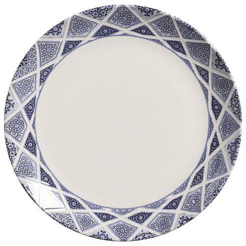 Jogo de Pratos Rasos Coup Mosquée Blue Porto Brasil Cerâmica 6 Peças