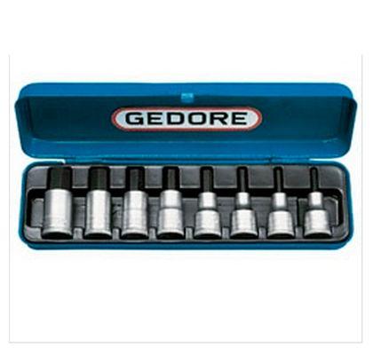 """Jogo de Soquetes Hexagonal 1/2"""" - 4 a 17mm Gedore 8 Peças IN19-8M IN19-8M"""