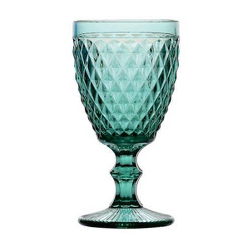 Jogo de Tacas para Agua Bico de Abacaxi 6 Pecas Azul Tiffany