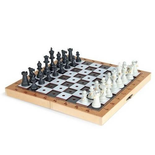 Jogo de Xadrez Adaptado em Braille - 1780 Carlu