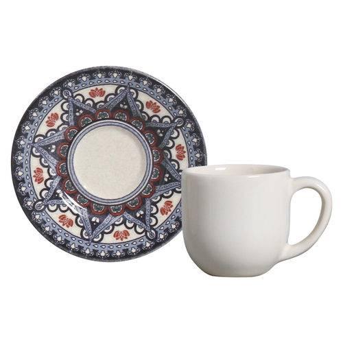 Jogo de Xícaras de Café Mônaco Constantinopla Porto Brasil Cerâmica 6 Peças