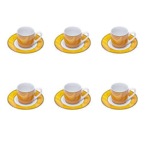 Jogo de XÍCARAS para CAFÉ em Porcelana Bon Gourmet Silva 6 PEÇAS 90ML
