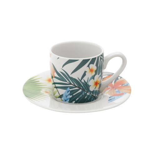 Jogo de Xícaras para Café em Porcelana Lyor Spring 6 Peças 90ml