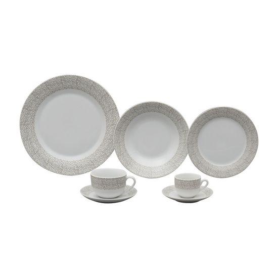 Jogo Jantar de Porcelana 42 Peças Saragoça