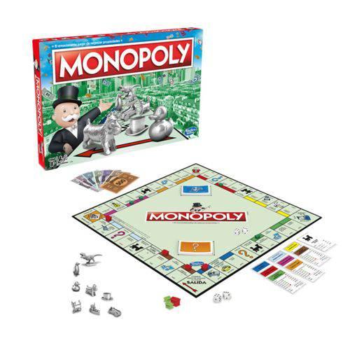 Jogo Monopoly Edição Especial com Peças de Metal Hasbro