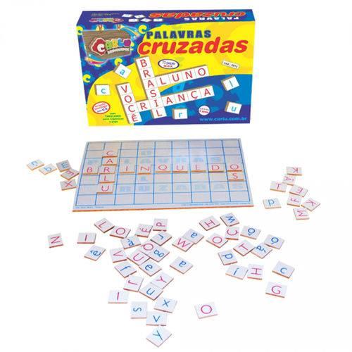 Jogo Palavras Cruzadas em Mdf com 73 Peças 3013 - Carlu