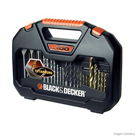 Jogo para Furar e Parafusar A7187-XJ 100 Peças Black Decker