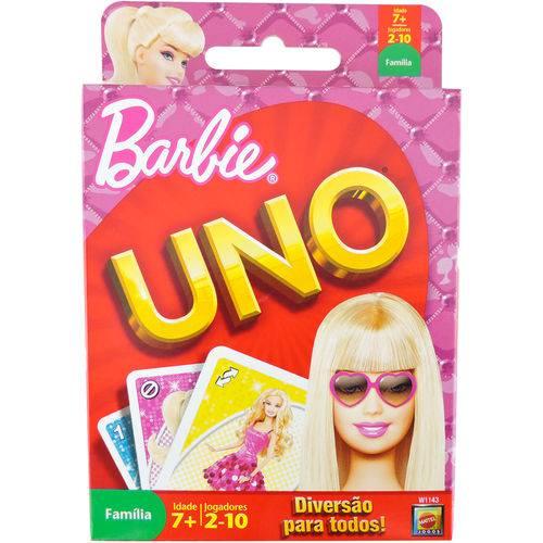 Jogo Uno da Barbie da Mattel de 2 a 10 Jogadores
