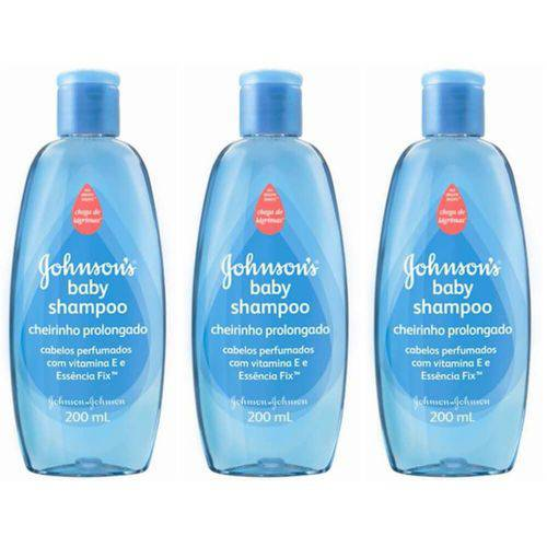 Johnsons Baby Cheirinho Prolongado Shampoo 200ml (kit C/03)