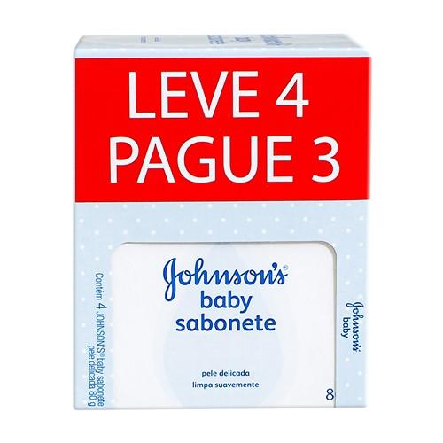 Johnson's Baby Sabonete em Barra 80g Cada Leve 4 Pague 3