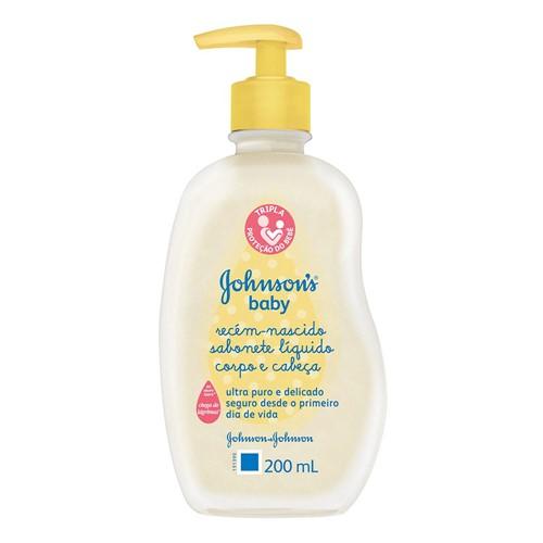 Johnson's Baby Sabonete Líquido Recém Nascido com 200ml