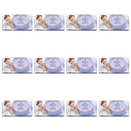 Johnsons Hora do Sono Lenço Umedecido C/48 (kit C/12)