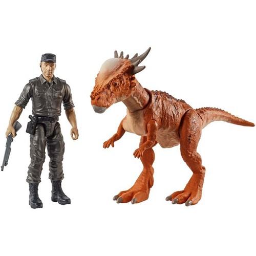 Jurassic World - Conjunto Aventura - Stiggy & Mercenário Fmy84 - MATTEL