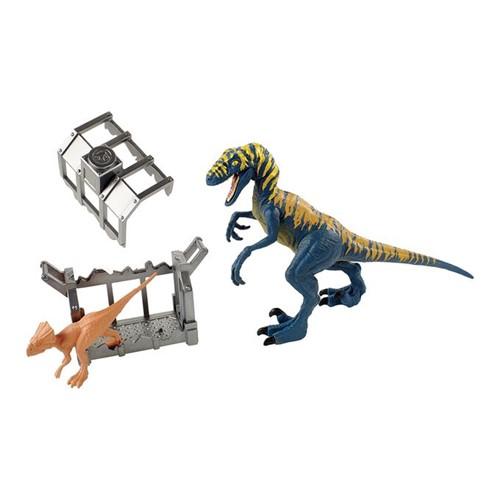 Jurassic World - Dinossauros Destrutosauros - Velociraptor e Microceratus Ftd13 - MATTEL
