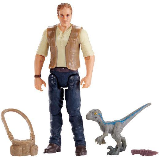 Jurassic World Owen com Baby Blue - Mattel
