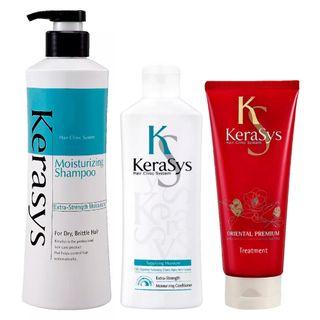Kerasys Moisturizing Kit - Shampoo + Condicionador + Tratamento Kit