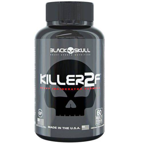 Killer 2f 60 Caps- Black Skull Thermogenico Importado