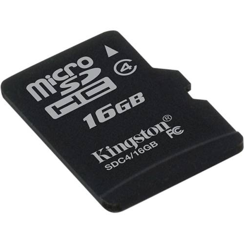 Kingston Cartão de Memoria 16gb Microsdhc com Adaptador Sd (Classe4) - Sdc4/16gb