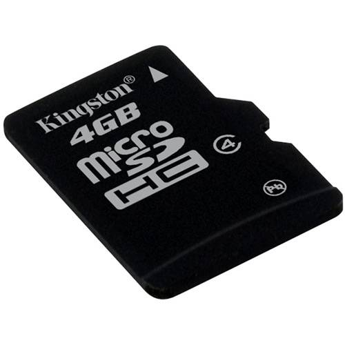 Kingston Cartão de Memoria 4gb Microsdhc com Adaptador Sd (Classe4) - Sdc4/4gb