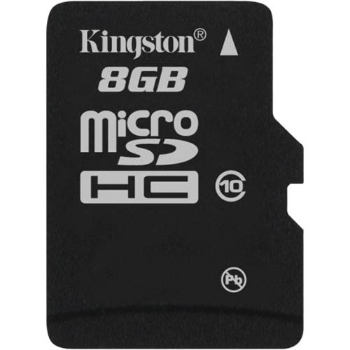 Kingston Cartão de Memoria 8gb Microsdhc com Adaptador Sd (Classe10) - Sdc10/8gb