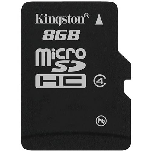 Kingston Cartão de Memoria 8gb Microsdhc com Adaptador Sd (Classe4) - Sdc4/8gb