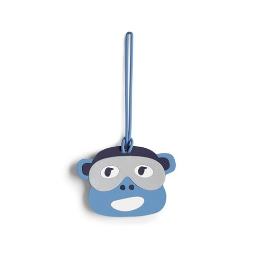 Kipling Monkey Fun Tag BL Monkey Face-Único