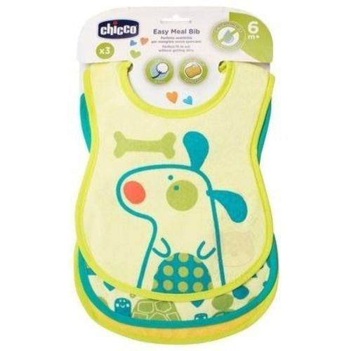 Kit 03 Babadores Easy Meal Unissex 3 Pçs 6m+ Chicco 163013