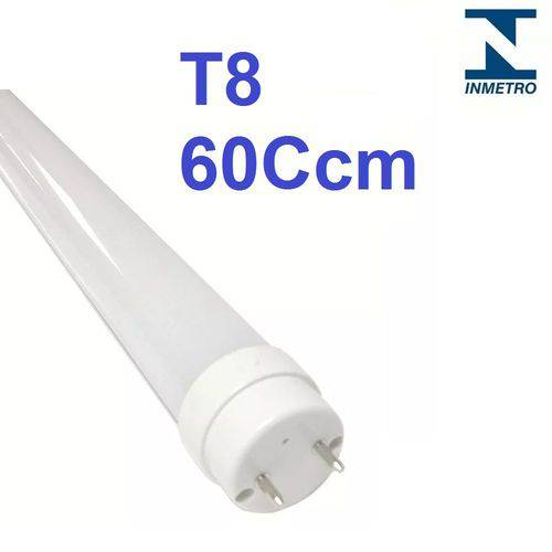 Kit 15 Lâmpada Led Tubular T8 60cm Bivolt G13 6000k Branco Frio 10w