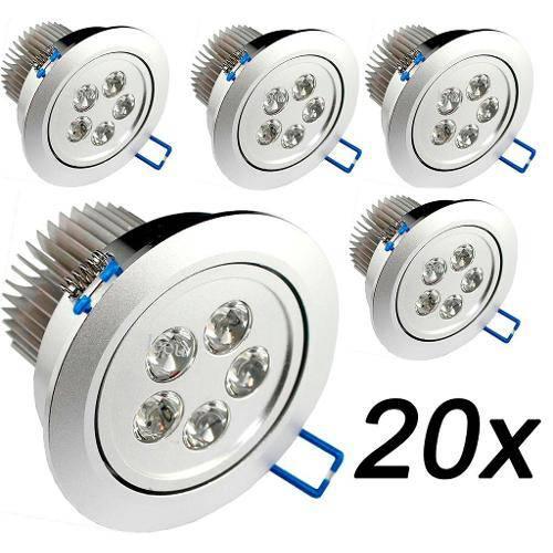 Kit 20 Lâmpada Spot Super Led Direcionável 7w P/ Teto Sanca