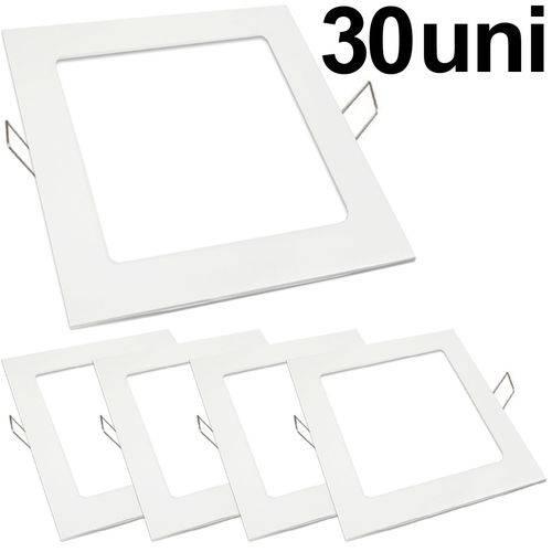 Kit 30 Luminária Plafon Led 18w Embutir Quadrado Branco Frio