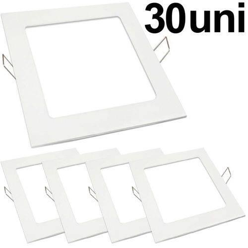 Kit 30 Luminária Plafon Led 25w Embutir Quadrado Branco Frio