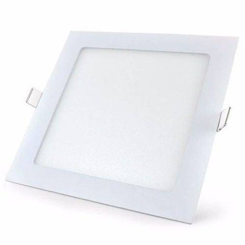 Kit 5 Painel Plafon Led Embutir Quadrado 12w Luminária - Branco Frio