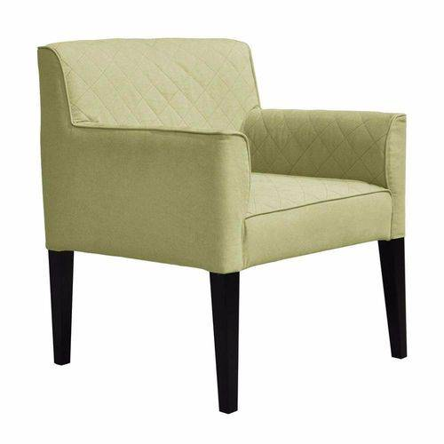 Poltrona Cadeira Decorativa Livia Sala Escritório Suede Bege